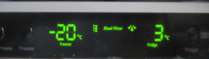 تنظیم دمای یخچال فریزر دیجیتال