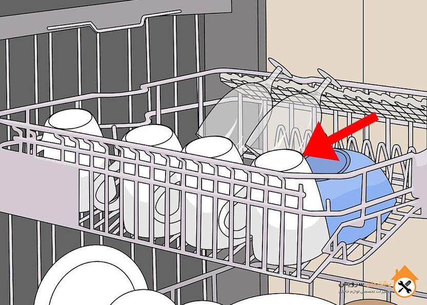 راهنمای استفاده از ماشین ظرفشویی طریقه چیدن ظرف ها