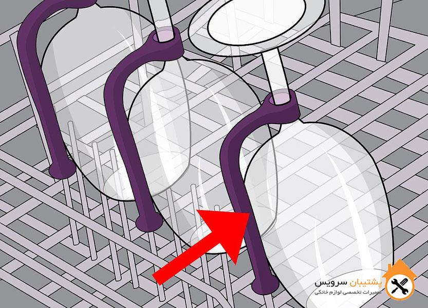 طریقه چیدن لیوان ها در ماشین ظرفشویی