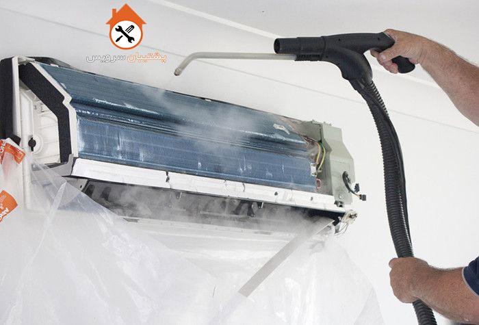طریقه شستشوی پنل داخلی کولر گازی _ نحوه شستن اواپراتور اسپیلت