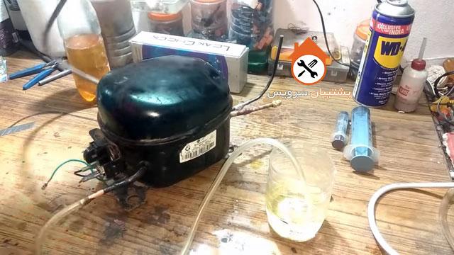شارژ و تعویض روغن کمپرسور یخچال