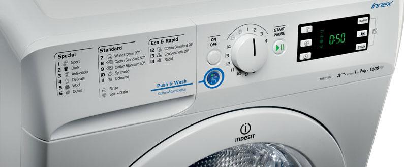 نمایندگی تعمیرات لباسشویی ایندزیت برنامه های ماشین لباسشویی ایندزیت