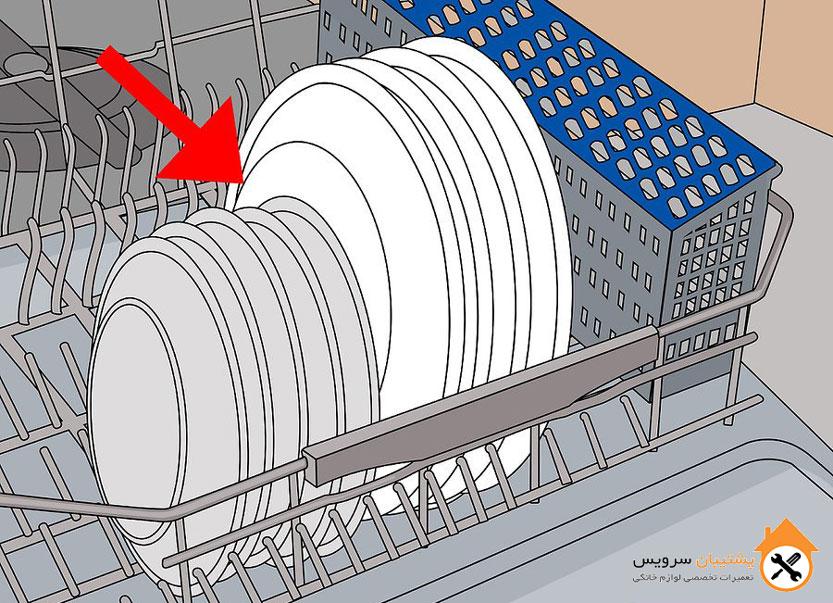 طریقه چیدن ظروف داخل ماشین ظرفشویی