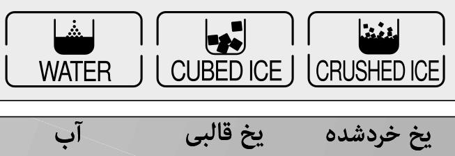 WATER/ICE کلید انتخاب آب و یخ در یخچال ساید دوو deawoo