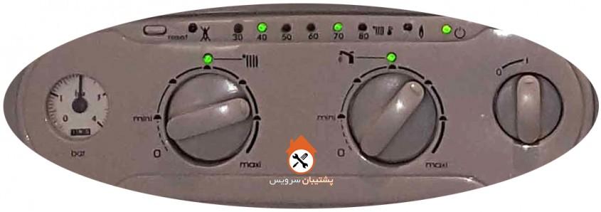 ارور 40 و 72 پکیج ایران رادیاتور _ کد خطا چشمک زدن چراغ 40 و 70