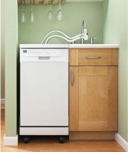 ماشین ظرفشویی کوچک باریک قابل حمل و جابجایی آسان