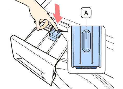 خارج کردن جای پودری از لباسشویی