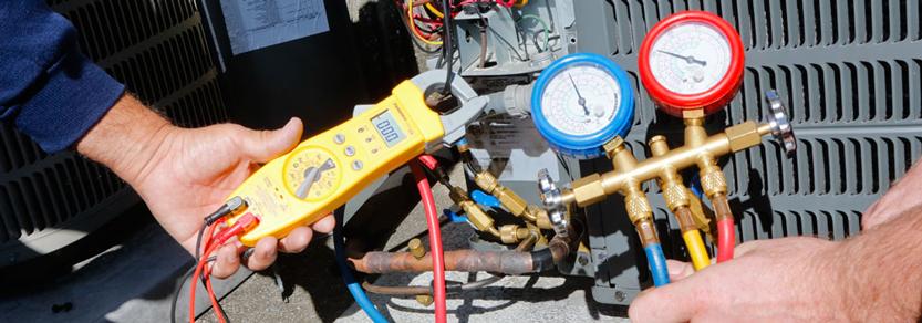شارژ گاز کولر گازی با آمپر متر