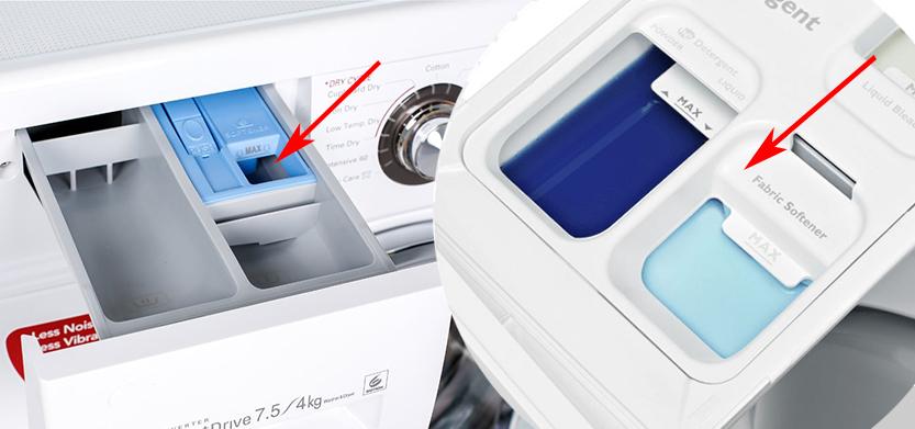 جای نرم کننده ماشین لباسشویی