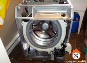 جدا کردن پنل لباسشویی _ اوراق و مونتاژ لباسشویی _ آموزش تعویض بلبرینگ ماشین لباسشویی