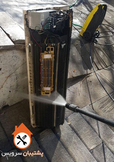 باز کردن و شستشوی پنل داخلی کولر گازی ( اواپراتور )