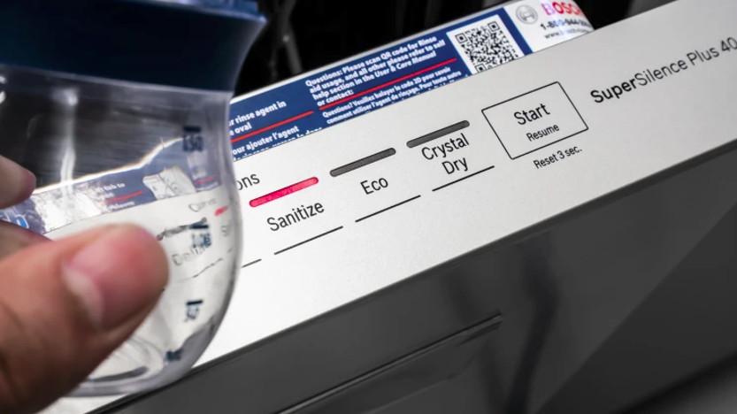 معنی sanitize در ماشین ظرفشویی